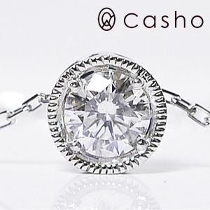 pt900/850 DIAMOND 0.30 CLASSIC ROUND/プラチナ ダイヤモンド0.30 クラッシックラウンドペンダント ネックレス