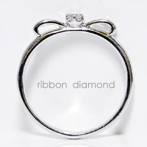 リボンリング ダイヤモンド ピンキーホワイトゴールド ピンクゴールド イエローゴールド K10WG K10PG K10YG K18 pt900プラチナ製作誕生日クリスマスプレゼント