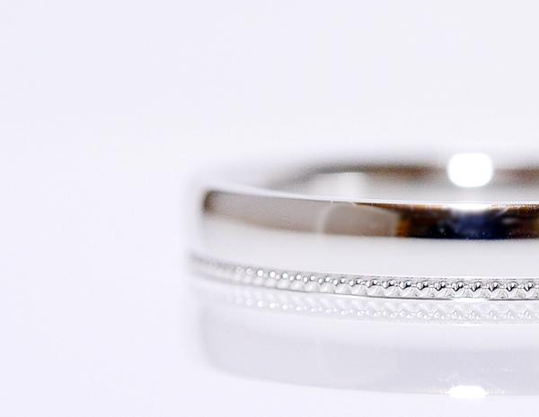 【CASHO】pt900(プラチナ)/鍛造製/ペアリング(2本)製作/ミルライン/アーガイル(メンズ)&ハートミル(レディース)ペアリング、マリッジリング/結婚指輪/