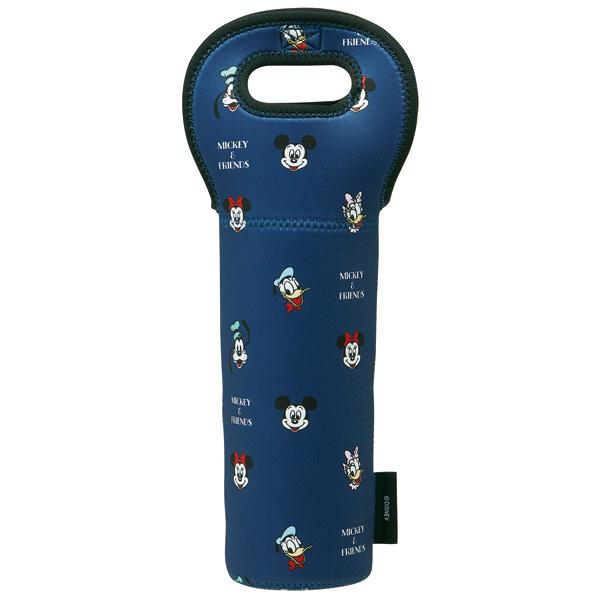 スケーター 国内送料無料 41%OFF ウエット素材ボトルバッグ ミッキーマウス カバー ボトル 持ち運び 瓶 ディズニー ワインバッグ 捧呈 Disney 保護 便利 ビン
