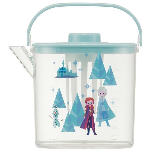 スケーター ティーバッグ用茶こし付 冷茶ポット 安全 1.2L アナと雪の女王 冷水筒 ウォーターポット ピッチャー Disney 洗いやすい 熱湯OK 持ち手付き 水分補給 ディズニー 常備保存用ポット 希望者のみラッピング無料