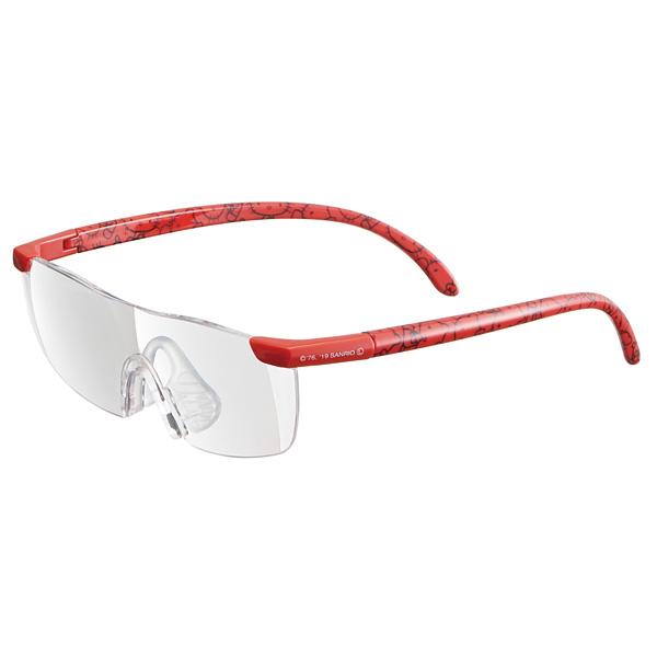 メガネの上からでもかけられる1.6倍の拡大率 スケーター 拡大率1.6倍 日本 大きくはっきりよく見える ルーペグラス ハローキティ レッド サンリオ 虫眼鏡 メガネ型拡大鏡 Sanrio 当店一番人気 めがね メガネ