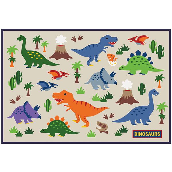 2個までメール便選択可 スケーター レジャーシート〔1人用〕 ディノサウルス ピクニックシート 遠足 運動会 敷物 ダイナソー 高額売筋 ひとり用 小さめサイズ ティラノサウルス 恐竜 DINOSAURS 一部予約 キッズ用
