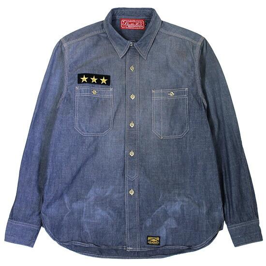 【 送料無料 】【 DOUBLE HARD / ダブルハード 】 Washed Chambray Shirts ( シャンブレーシャツ ) / インディゴブルー 【あす楽対応_東北】【あす楽対応_関東】 ( DOUBLE HARD シャツ ) ( ダブルハード シャツ ) ( ダブルハード デニム )