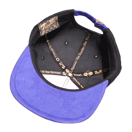 Rulez Snapback Cap突然弹回盖子/黑色×蓝色(七联合盖子)(7UNION盖子)