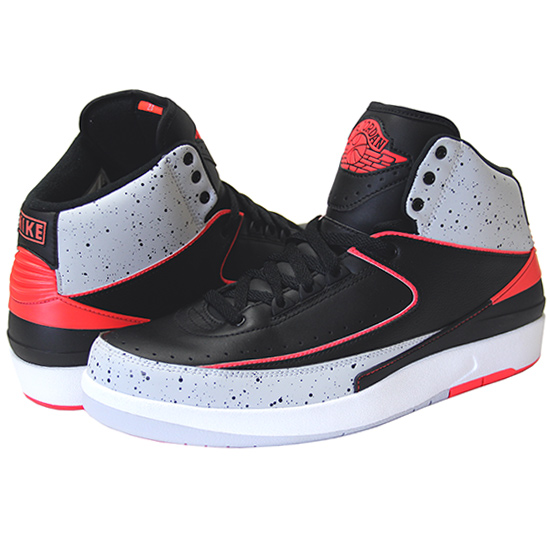 "025262e0bcb Air Jordan 2 Retro ""INFRARED 23"" / black x grey x infra red ..."