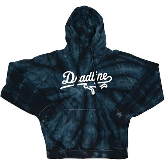 【エントリーでポイント20倍】 【 送料無料 】【 DEADLINE / デッドライン 】 Sports Logo Tie Dye Hoody パーカー / ブラック ( DEADLINE パーカー ) ( デッドライン パーカー )