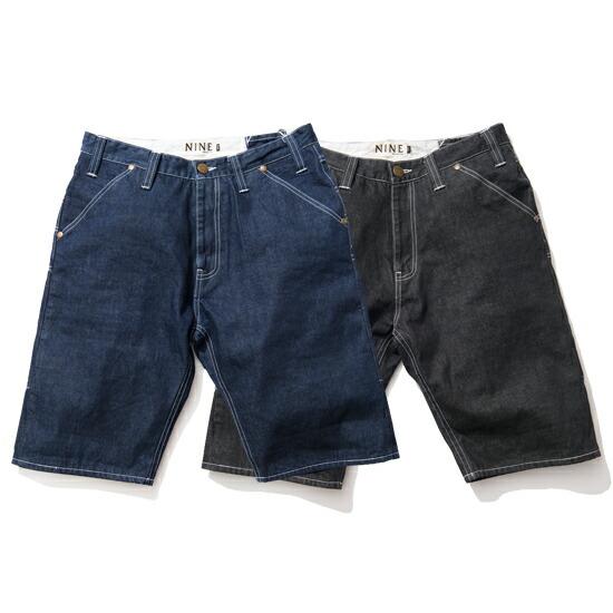 【エントリーでポイント20倍】 【 送料無料 】【 Nine Rulaz Line / ナインルーラーズ 】 Basic Denim Shorts デニムショーツ ( ナインルーラーズ ショーツ ) ( NINE RULAZ ショーツ )