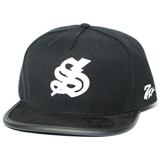 7UNION 7ユニオン Suede 7 Thunder キャップ 帽子 / ブラック×ホワイト 7UNION キャップ