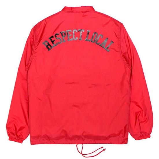 【エントリーでポイント20倍】 CASSETTE PUNCH カセットパンチ Respect Local Coach Jacket コーチジャケット / レッド