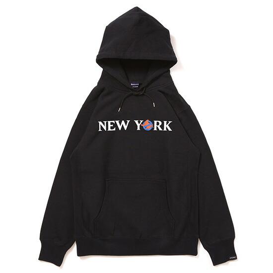 送料無料 APPLEBUM(アップルバム) NEW YORK Sweat Parka スウェット パーカー プルオーバー ゴーストバスターズ コラボレーション ブラック g1620401black