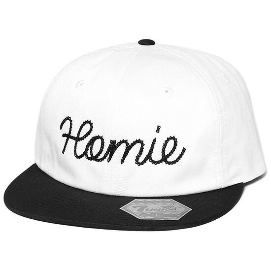 7UNION 7ユニオン Homie Snapback Cap スナップバック キャップ 帽子 ホワイト×ブラック