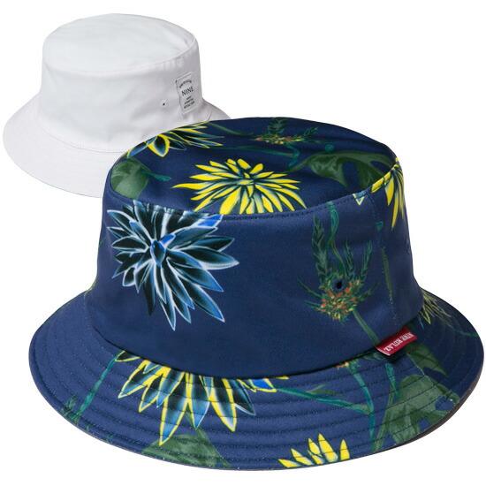 NINE RULAZ LINE ナインルーラーズ Kush And Tequila Reversible Bucket Hat リバーシブル バケットハット 帽子 ホワイト NRSS16-065