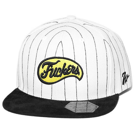 7UNION 7ユニオン Baltimore Fuckers Snapback Cap スナップバック キャップ 帽子 ホワイトストライプ×ブラック