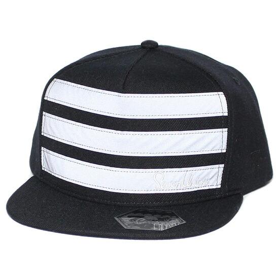 7UNION 7ユニオン Reflectors Line Snapback Cap スナップバックキャップ 帽子 リフレクター ブラック ICVW-114