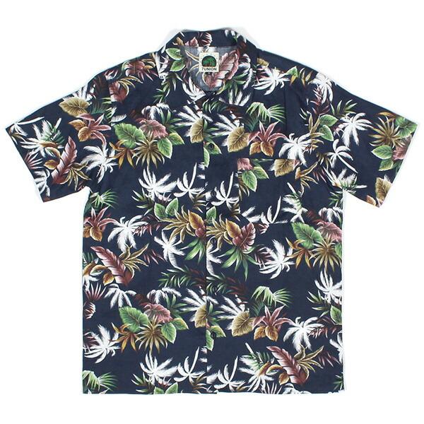 【エントリーでポイント20倍】 送料無料 7UNION 7ユニオン Big Island Shirt 半袖 ハワイアンシャツ アロハシャツ IAVW-022C ネイビー