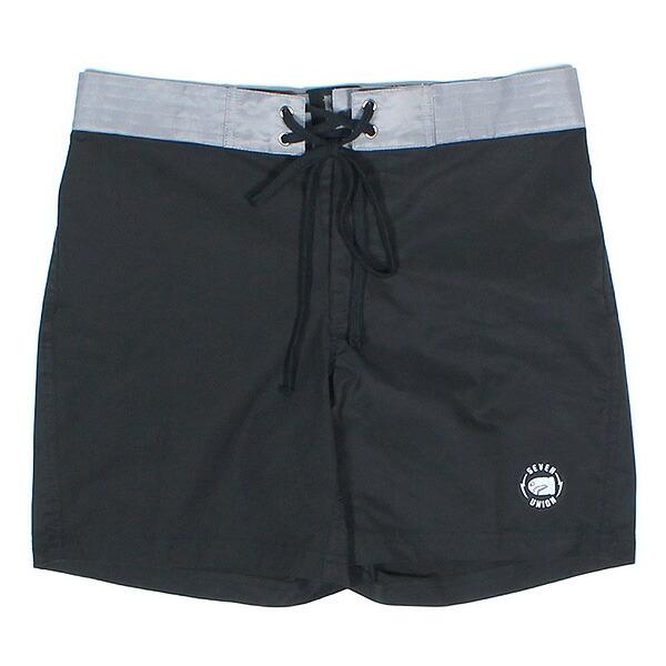【エントリーでポイント20倍】 送料無料 7UNION 7ユニオン Redondo Surf Shorts ショートパンツ ボードショーツ IAVW-025C ブラック