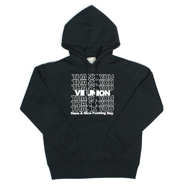 【エントリーでポイント20倍】 7UNION 7ユニオン Thank You Hoodie プルオーバー パーカー メンズ フーディ スウェット IAXY-011C ブラック
