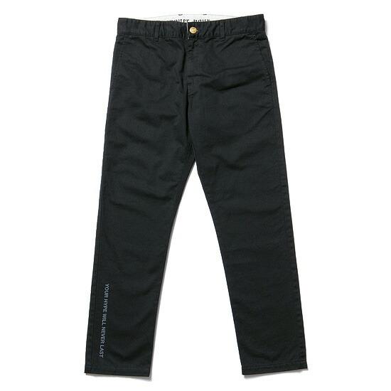 【エントリーでポイント20倍】 送料無料 NINE RULAZ LINE ナインルーラーズ Chino Pants チノパンツ パンツ ボトム メンズ NRSS17-012 ブラック