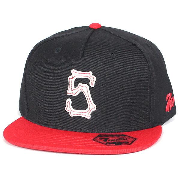 7UNION 7ユニオン Bones Union Snapback Cap スナップバック キャップ 帽子 ユニセックス IAVW-156 ブラック×レッド