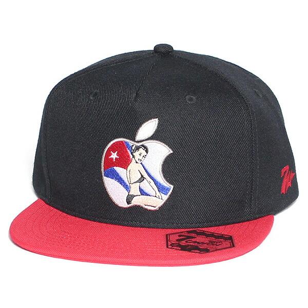 7UNION 7ユニオン 7s Havana Apple Snapback Cap スナップバックキャップ 帽子 ユニセックス IAVW-109 ブラック×レッド
