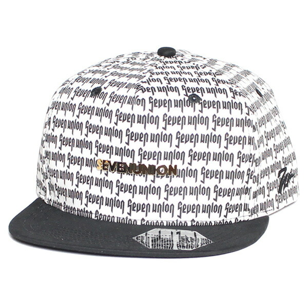 7UNION 7ユニオン Bingo Snapback Cap スナップバックキャップ 帽子 ユニセックス IAVW-115 ホワイト×ブラック