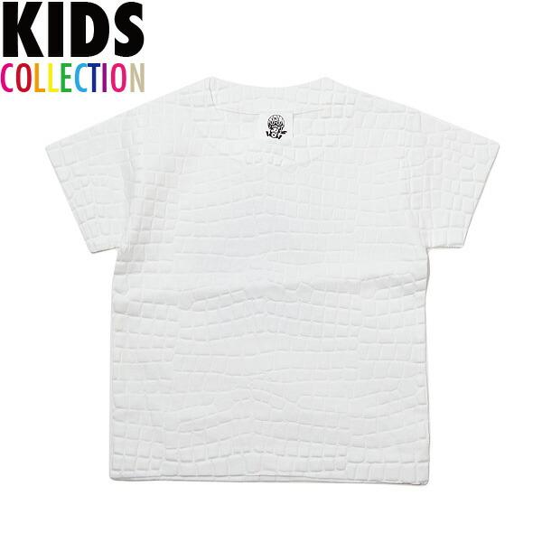 NINE RULAZ LINE ナインルーラーズ キッズ Kid's Crocodile Emboss Tee 半袖 Tシャツ 子供服 NRKSS17-004 ホワイト
