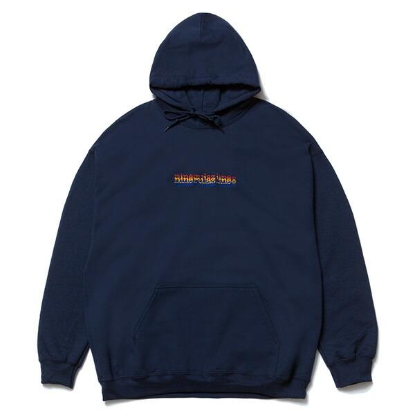 送料無料 NINE RULAZ LINE ナインルーラーズ Triple Logo Hoodie パーカ プルオーバー NRAW17-020 ネイビー