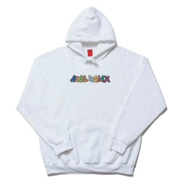 【エントリーでポイント20倍】 送料無料 NINE RULAZ LINE ナインルーラーズ Graffiti Logo Hoodie パーカ プルオーバー NRAW17-024 ホワイト