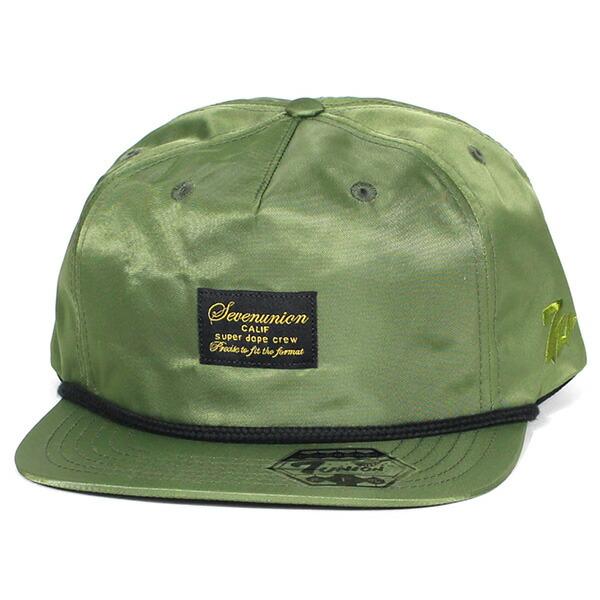 7UNION 7ユニオン MA-7 Snapback Cap スナップバックキャップ ユニセックス 帽子 IAXY-104 オリーブ