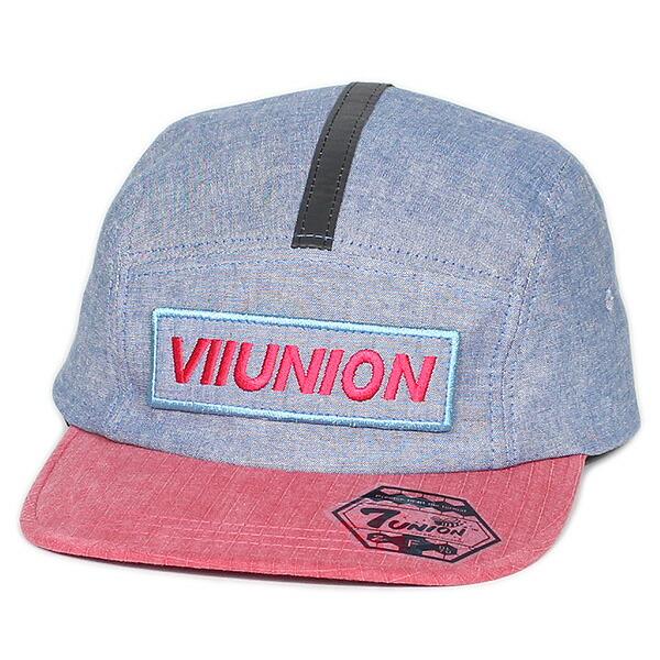 7ユニオン ジェットキャップ 帽子 7UNION 7U Camp Cap IPVW-142 CHAMBRAY RED シャンブレー レッド
