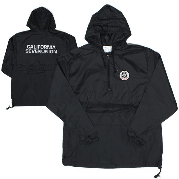 【エントリーでポイント20倍】 7ユニオン 7UNION ジャケット California Anorak Jacket アノラック メンズ アウター IPVW-009C ブラック