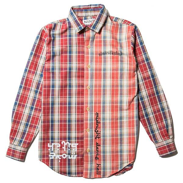 【エントリーでポイント20倍】 ナインルーラーズ シャツ NINE RULAZ Flannel Shirt メンズ チェックシャツ NINE RULAZ LINE NRSS18-005 レッド