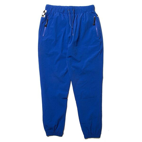 ナインルーラーズ パンツ トラックパンツ チェッカーフラッグ NINE RULAZ Fly Track Pants NRSS18-008 ブルー