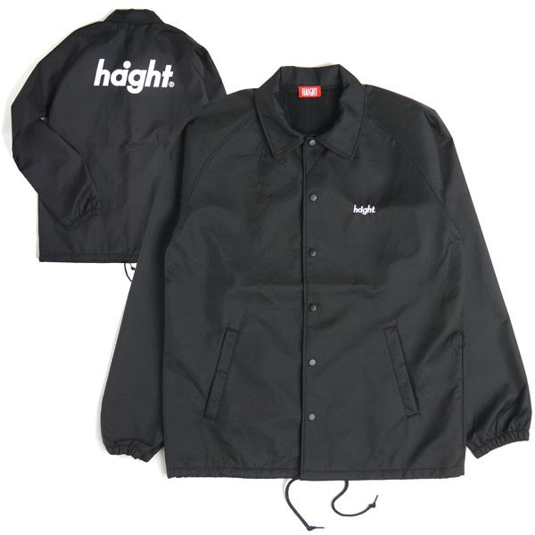 【エントリーでポイント20倍】 ヘイト コーチジャケット HAIGHT Round Logo Bonded Coach Jacket HT-W182001 BLACK ブラック