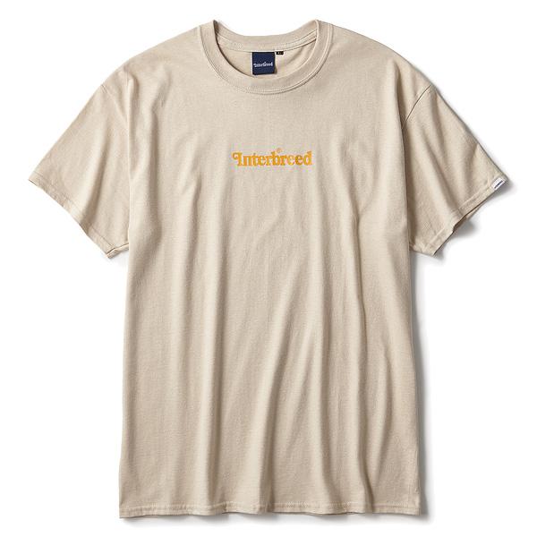 インターブリード Tシャツ メンズ レディース INTERBREED Archive Logo S/S Tee 半袖 ロゴTシャツ ストリート ブランド ロゴ プリント サンド 送料無料 M-XXL IB19AW-01