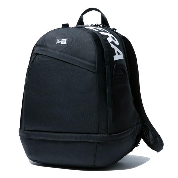 ニューエラ リュック メンズ レディース NEW ERA スポーツパック プリントロゴ ブラック/ホワイト ワンサイズ 11901480