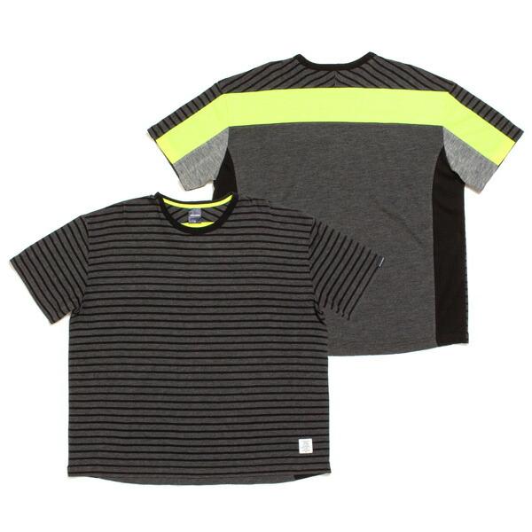 【エントリーでポイント20倍】 アップルバム Tシャツ メンズ APPLEBUM Mix T-Shirt 半袖 ボーダー グレー M-XL 1911117