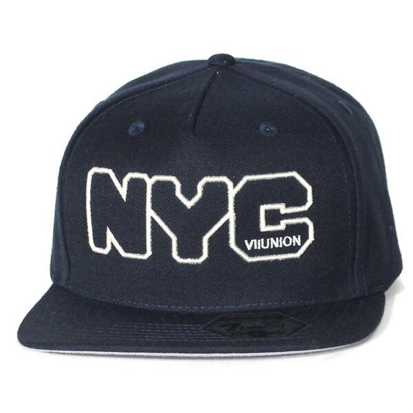 セブンユニオン キャップ 7UNION Out Line NYC Snapback Cap スナップバック ネイビー ワンサイズ ISVV-121