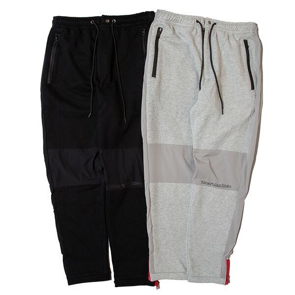 【エントリーでポイント20倍】 ナインルーラーズ スウェットパンツ メンズ レディース 送料無料 NINE RULAZ LINE Sweat and Nylon Combi Pants パンツ ナイロン セットアップ ストリート レゲエ ブランド M-XXL 全2色 NRAW19-014
