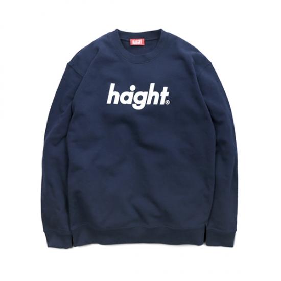 ヘイト スウェット メンズ レディース 送料無料 HAIGHT Round Logo Crew Sweat トレーナー クルーネック ストリート ブランド ロゴ ネイビー S-XXL HT-W173001