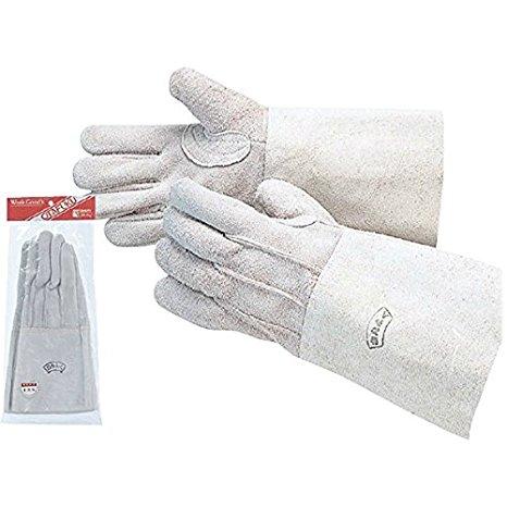 【10双セット販売】おたふく手袋 406 革手溶接床5指 革手袋  フリーサイズ