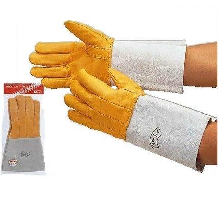 【10双セット販売】おたふく手袋 408 溶接用コンビ5指 革手袋 フリーサイズ