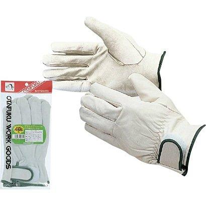 【10双セット販売】おたふく手袋 455 アウトドアアテ無マジック止 白 フリーサイズ