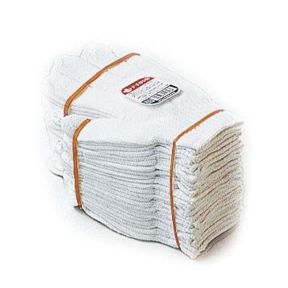 【10ダースセット販売】おたふく手袋 613 白ナイロン 化合繊維軍手 フリーサイズ 1ダース×10 120双
