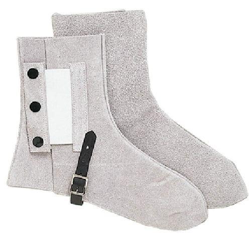 【10足セット販売】おたふく手袋 439 牛床革 足カバー ゴムホック付 フリーサイズ