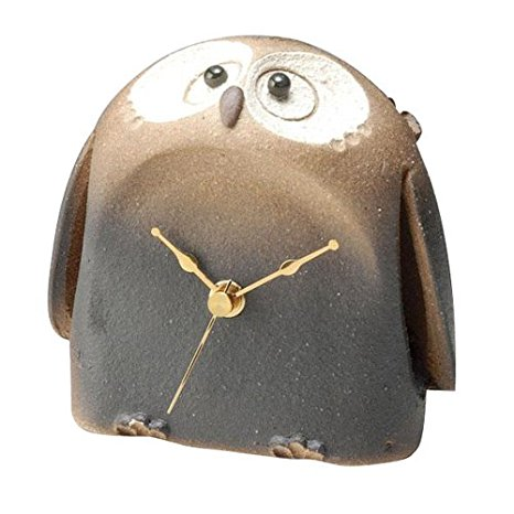 信楽焼 置時計 福朗腹時計 サイズ:奥行9×幅14×高さ13cm