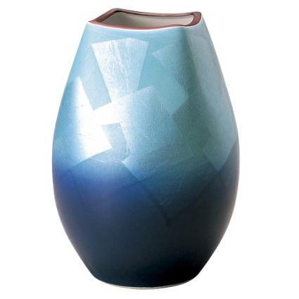 九谷焼 宗秀窯 釉裏銀彩 花瓶 サイズ:24cm M50239100-853