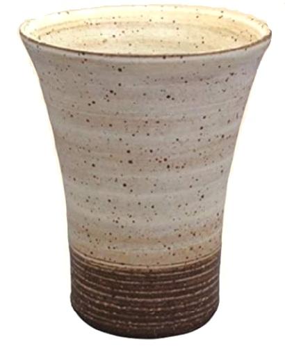 常滑焼 焼酎カップ 訳あり フリーカップ 全品最安値に挑戦 焜清作粉引き ビアグラス