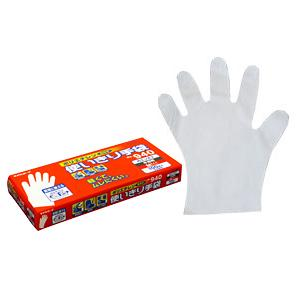 【24箱ケース販売】エステー No.940 ポリエチレン使いきり手袋 100枚入(箱)半透明